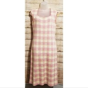 St. John Yellow and Pink Patchwork Dress